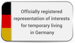 registered representation of interest for temporary living in Germany